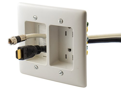 Electric Rr1512w 2 Gang Recessed Tv Connection Outlet