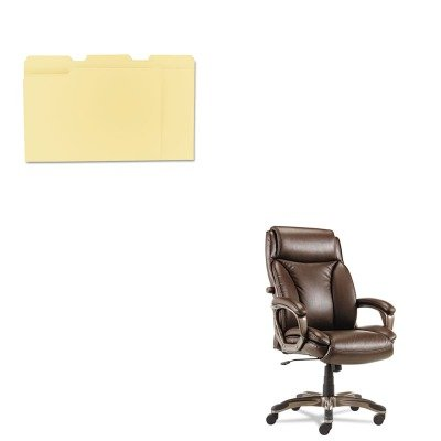 KITALEVN4159UNV12113 - Value Kit - Best Veon Series Executive High-Back Leather Chair (ALEVN4159) and Universal File Folders (UNV12113) by Best
