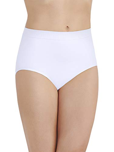 Vanity Fair Women's Smoothing Comfort Seamless Brief Panty 13264, Star White, Medium/6
