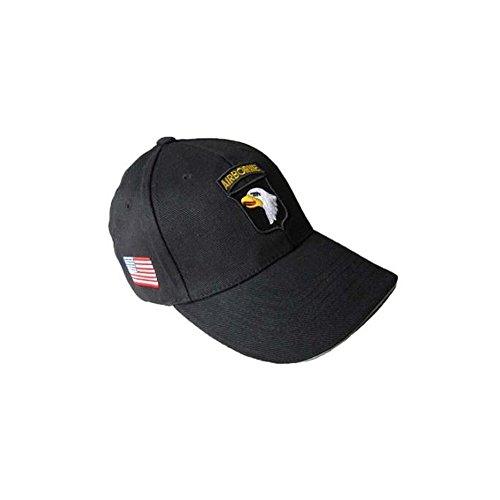 Gorra de béisbol con diseño de la 101.ª División Aerotransportada, color negro