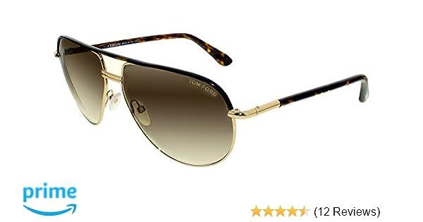 0146ca63eb Amazon.com  Tom Ford M-SG-2003 FT0285 Cole 52K-Rose Gold-Dark Havana ...