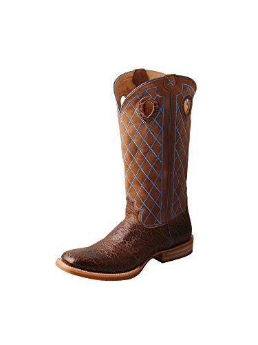 - Twisted X Mens Buckaroo 16-Inch SS Toe Pull-On Boot - Buckskin Shoulder/Buckskin