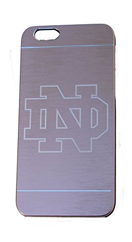 Notre Dame Custom Engraved On A Gold Aluminum Phone Case For IPhone 6 or 6S (AL6-NOTREDAME-GOLD)