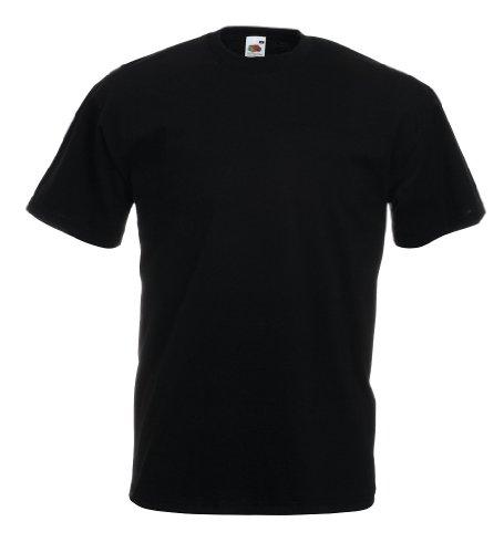 Fruit of the Loom T-Shirt S-XXXL in verschiedenen Farben L,Schwarz