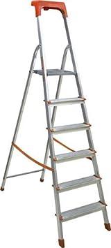 6 Gradini Scala domestica in alluminio robusta,pratica e leggera max 150 Kg