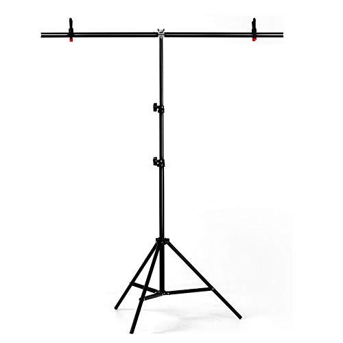 YUOCU Adjustable Portable T-shape PVC Background Photography Backdrop Support Stand System Kit (Large, 150cm x 200cm/59