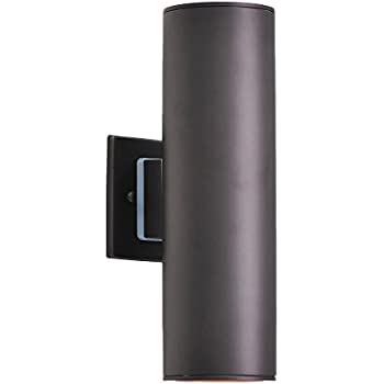 Up Down Bronze Cylinder Outdoor Wall Light Amazon Com