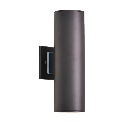 Outdoor Wall Lamp - Housen Solutions Waterproof Porch Light Modern Wall Sconce Light Fixture, Painted Brown, Stainless Steel 304 Cylinder, UL Listed, IP64, Ideal for Garden and Patio (Garden Lighting Solutions)