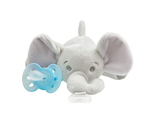 Philips Avent Ultra Soft Snuggle Pacifier SCF348/03, Elephant, 0-6 Months