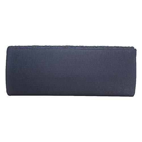 Handbag Women Fashion Cckuu Shoulder Evening Leaves Blue New Silver Bag Clutch Flower Chain Navy g8qdq5w