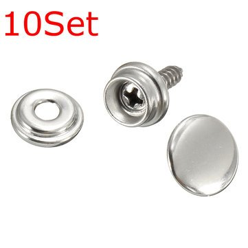 Fasteners Threaded Rods & Studs - 10Set Snap Fastener Screws With Attaching  For Boat Canvas Cover - 10 x Snap Fastener buttons 10 x Snap Fastener