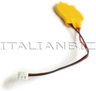 Italianbiz Batterie CMOS avec c/âble 2 broches Compatible avec CR2032