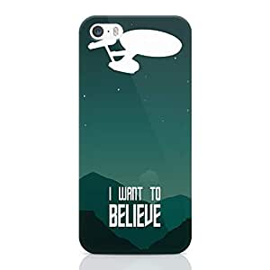 Loud Universe Believe Quote Star trek iPhone 5 / 5s Case Star Trek Classic iPhone 5 / 5s Cover with 3d Wrap around Edges