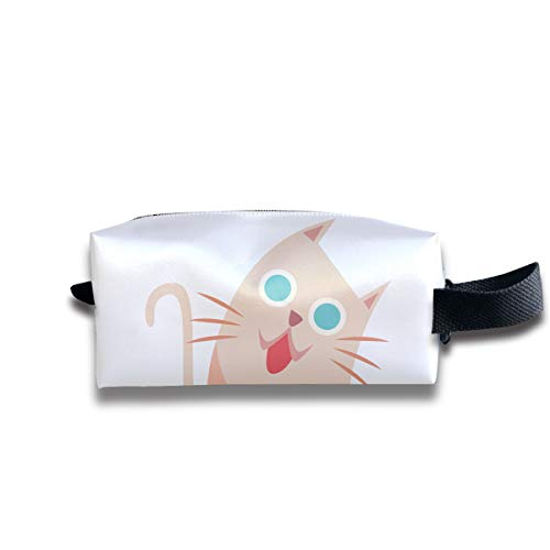 Toiletry Bag Cat Kitten Cartoon Shaving Cosmetic Makeup Storage Travel Sundry Sewing Organizer Portable With Handle
