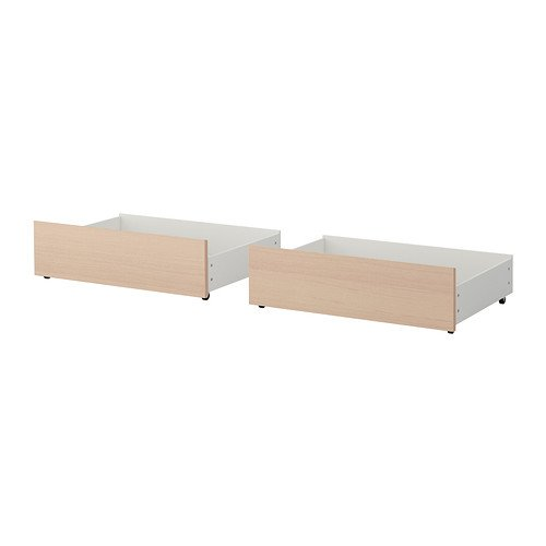 Ikea Malm Queen/King Size Underbed Storage Box for High Bed Brown White Stained Oak Veneer 102.646.94
