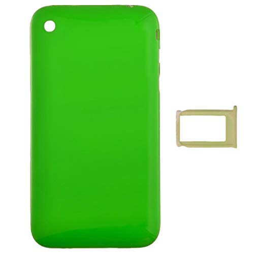 Door with Chrome Bezel for Apple iPhone 3G (Green) with Glue ()