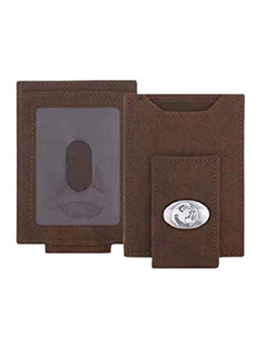 Florida State Seminoles - Crazy Horse Leather Front Pocket Wallet