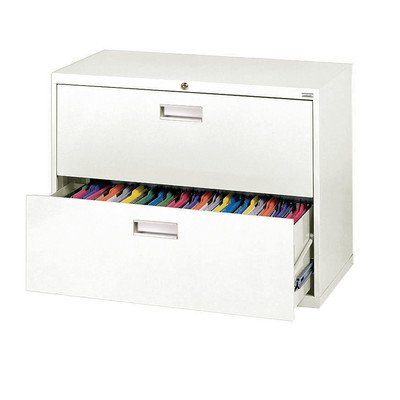 Sandusky Lee LF6A362-22 600 Series 2 Drawer Lateral File Cabinet, 19.25' Depth x 28.375' Height x 36' Width, White