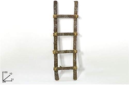 Dos Estas Escalera de Madera 4 peldaños 100 x 10 x 31 cm Natural C/Nieve decoración de Navidad: Amazon.es: Hogar