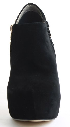 Womens Studded High Heel Stiletto Winter Zip Evening Dressy Ankle Shoe Platform Boots Size 3 - 8 g0BtdYV