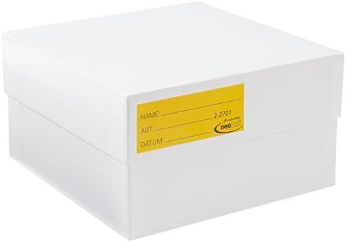 2 Neolab 2701 Kryo - Caja de almacenaje (cartón, 75 mm), color blanco: Amazon.es: Industria, empresas y ciencia