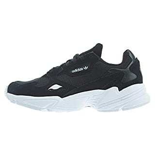 adidas Originals Women's Falcon Sneaker, Black/Black/White, 8.5 M US
