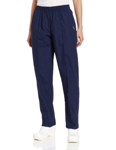 - Landau Women's Comfortable 2-Pocket Classic Fit Medical Scrub Pant Uniform, Navy, X-Large Petite