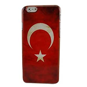 LZX Turkey Vintage Flags Plastic Hard Back Cover for iPhone 6