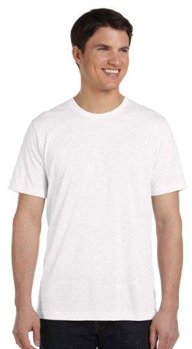 Bella+Canvas Men's Tri-blend Tee - White Fleck TriBlend - XL ()