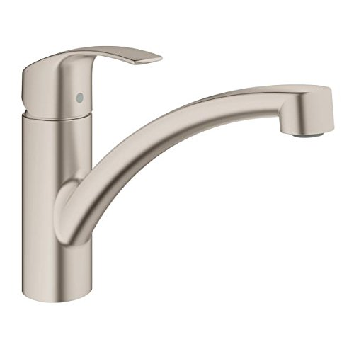 GROHE 33281DC2, Eurosmart Single-Lever Kitchen Mixer, Supersteel
