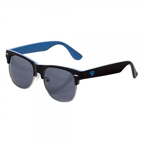 DC Comics Superman Logo Half Rim Square Sunglasses w/ Pouch SG4TPUSPM