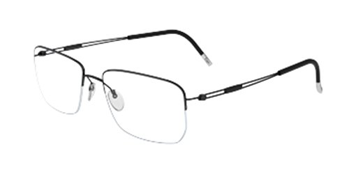 (Silhouette - TNG NYLOR 5279, Geometric, titanium, men, BLACK(6055 J), 54/18/0 )