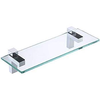 KES Tempered Glass Shelf, Bathroom Shelf with 19.6 Inch