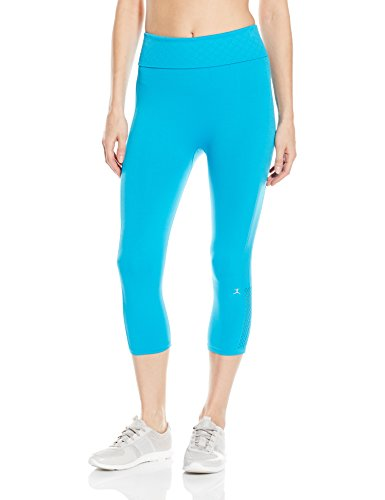 Danskin Leggings Capri - Danskin Women's Seamless Capri Legging, Vivid Blue Large