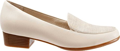 Trotters Monarch Para Mujer Nude/Metallic Linen