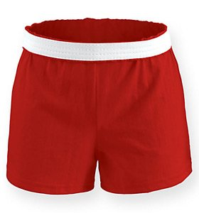 Soffe Athletic Youth Cheer Shorts, Red, X-Large