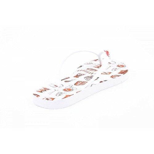 Coca Cola Bianco Donna Girls White Shoes Ace Infradito UgUwTq