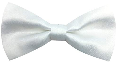 (CD Kids Bow Tie | Toddlers Adjustable Bowtie | Accessories for Boys and Girls (White, Kids))