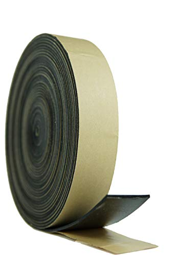 Neoprene Foam Weather Seal High Density Stripping with Adhesive Backing 2 Inch Wide 1/8 Inch Thick 50 Feet Long (2inchx 1/8inch x50feet)