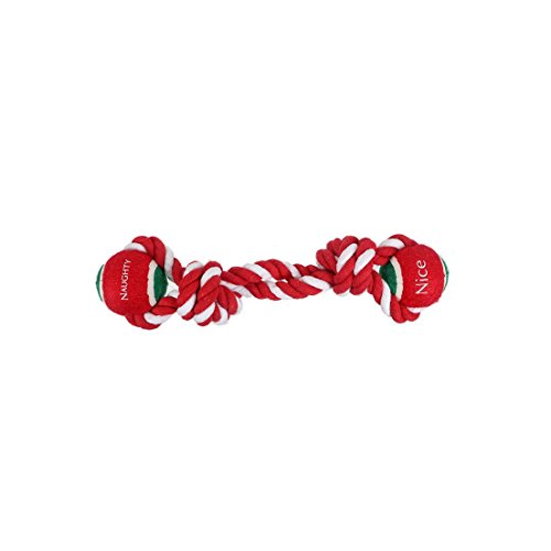 DEI 11 Inches High Naughty/Nice Tennis Ball Tug Toy ()