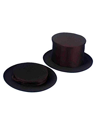 TOP HAT COLLAPSIBLE BLACK ADUL -