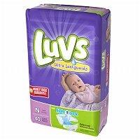 Luvs Ultra Leakguards Newborn Diapers Size N