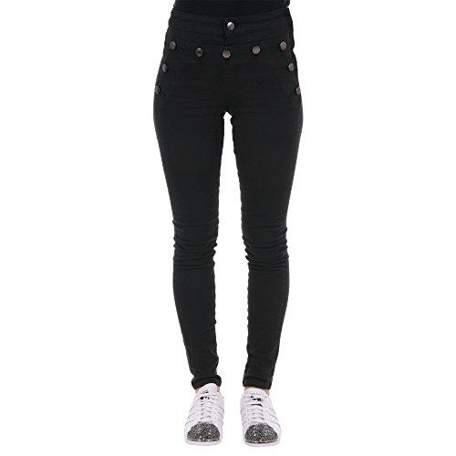 Scotch & Soda Jeans Donna 10197165 Cotone Nero