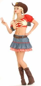 Sexy Texas Hold Em Cowgirl Costume - Womens XS-S (2-6)]()