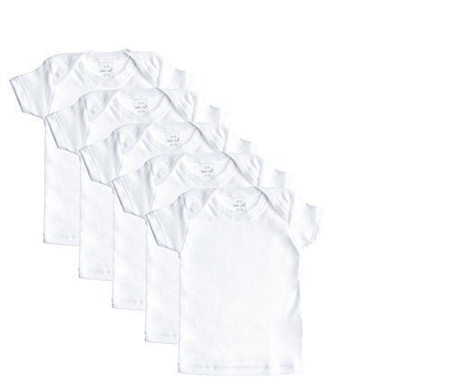 Fine Cotton Undershirt - Baby Jay Cotton Undershirt T-Shirt, Short Sleeve Lap Shoulder - WTSE 3-6 5-Pack