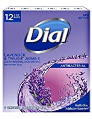 Dial Lavender And Twilight Jasmine Bar Soap, 12 Count ()