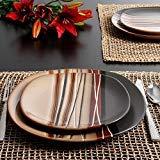 Better Homes and Gardens Bazaar Brown 16-Piece Dinnerware Set, Ceramic , Stone (Better Homes Gardens Dinnerware)