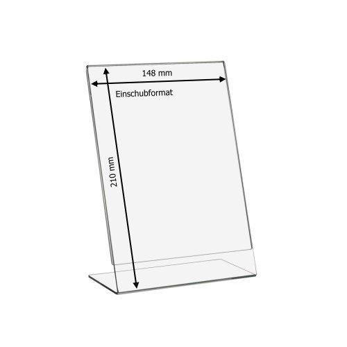 5 pieza DIN A5 L Soporte de/expositor verticales de vidrio ...