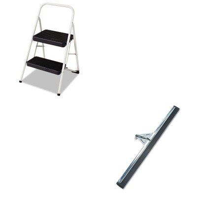 Unghm750 Heavy Duty Water Wand (KITCSC11135CLGG1UNGHM750 - Value Kit - Heavy Duty Water Wand Squeegee, 30quot; Wide (UNGHM750) and Cosco 2-Step Folding Steel Step Stool (CSC11135CLGG1))