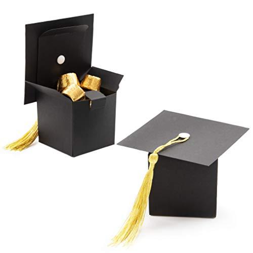 Juvale 36-Pack Graduate Cap Treat Boxes Graduation Party Decoration Supplies, 2.3 x 2.3 Inches -
